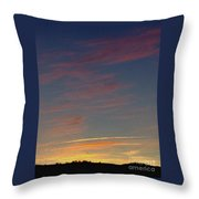 Klamath Summer Sunset Throw Pillow