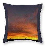 Klamath Sunset Of Fire Throw Pillow