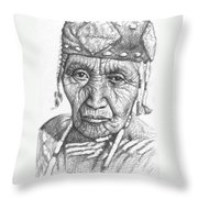 Klamath Woman Throw Pillow