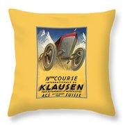 Klausen Automobile Throw Pillow
