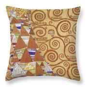 Klimt Expectation Throw Pillow