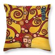 Klimt Study Tree Of Life Throw Pillow