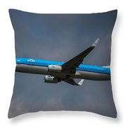 Klm Boeing 737 Ng Throw Pillow