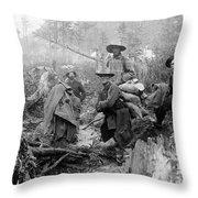 Klondike Gold Rush Miners  1897 Throw Pillow
