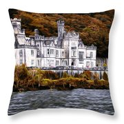 Klyemore Abbey Throw Pillow