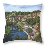 Knaresborough Yorkshire Throw Pillow