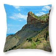 Knife Edge Road Overlooking Montezuma Valley In Mesa Verde National Park-colorado  Throw Pillow