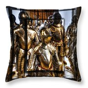 Knight And Friends Throw Pillow