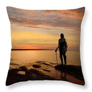 Knight At Sunrise Throw Pillow