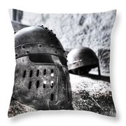 Knight Helmet Throw Pillow