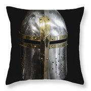 Knight In Shining Armor Throw Pillow