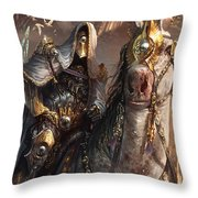 Knight Of Obligation Throw Pillow