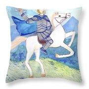 Knight Of Swords Throw Pillow