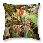 Knights Assembling, From Sir Nigel Throw Pillow