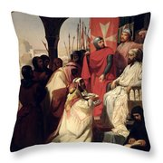 Knights Of The Order Of St John Of Jerusalem Restoring Religion In Armenia Throw Pillow