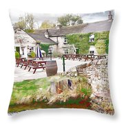 Knitsley Mill 5 Throw Pillow