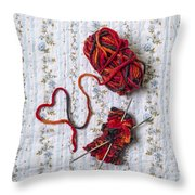 Knitted With Love Throw Pillow