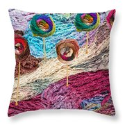 Knitting Lane Throw Pillow