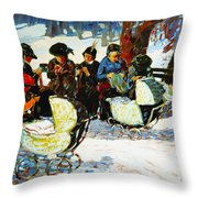Knitware Soldiers Throw Pillow