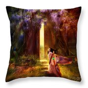 Knock At The Door Throw Pillow