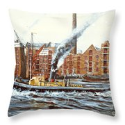 Knocker White Sailing Down River Past Rotherhithe Throw Pillow
