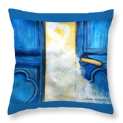 Knocking On Heavens Door Throw Pillow