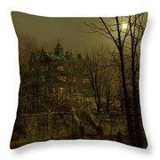 Knostrop Old Hall, Leeds, 1883 Throw Pillow
