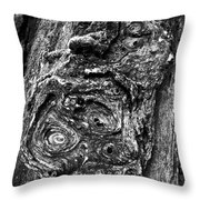Knots And Swirls Bw Throw Pillow