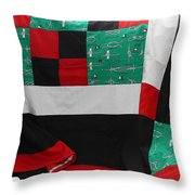 Knots On A Quilt With Digital Border Throw Pillow