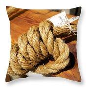 Knotted Hemp Throw Pillow
