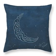 The Knotty Moon Throw Pillow