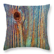 Knotty Plank #3b Throw Pillow