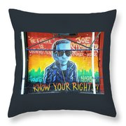 Know Your Rights Throw Pillow