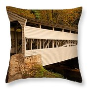 Knox Bridge In Autumn Throw Pillow