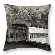 Knox Covered Bridge In Sepia Throw Pillow