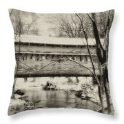 Knox Valley Forge Covered Bridge Throw Pillow