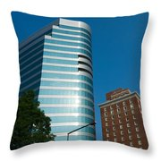 Knoxville Buildings Throw Pillow