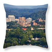 Knoxville Skyline In Summer Throw Pillow