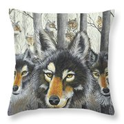 Knoxville Wolves Throw Pillow