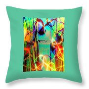 Knuckle And Smoke Throw Pillow
