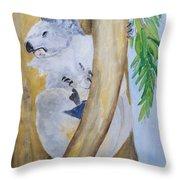 Koala Still Life Throw Pillow