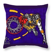 Kobe Bryant Throw Pillow by Jeremiah Colley