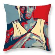 Kobe Bryant Throw Pillow by Taylan Apukovska