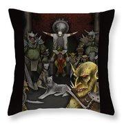 Kobold Throne Room Throw Pillow