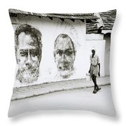 Kochi Urban Art Throw Pillow