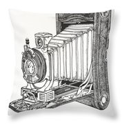 Kodak 3a Autographic Throw Pillow