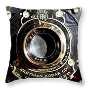 Kodak Brownie Throw Pillow