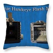 Kodak Brownie Hawkeye Camera Throw Pillow