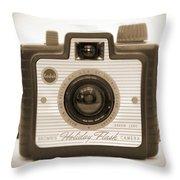Kodak Brownie Holiday Flash Throw Pillow