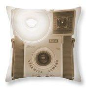 Kodak Brownie Starmite Camera Throw Pillow